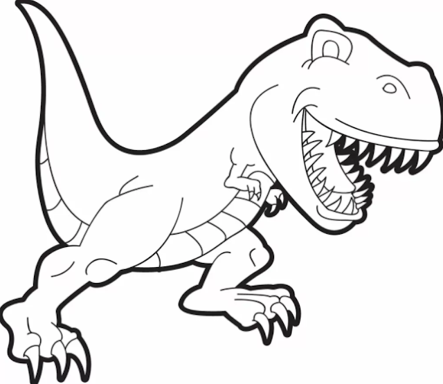 T Rex Coloring Pages PDF For Free