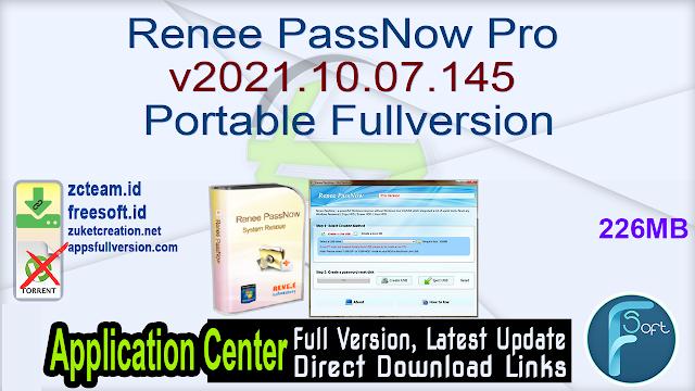 Renee PassNow Pro v2021.10.07.145 Portable Fullversion