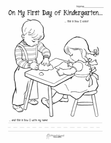 Printable First Day of School Coloring Pages Pdf
