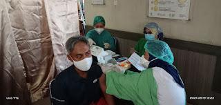 Rumah Sakit Mata Makassar Sulawesi Selatan Kembali Melaksanakan Vaksinasi Sinovac Taha ke 2