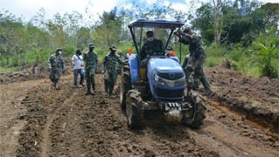 TMMD ke-112 Kodim 0206/Dairi, Akselerasikan Perbaikan Ekonomi Warga Pelosok Desa