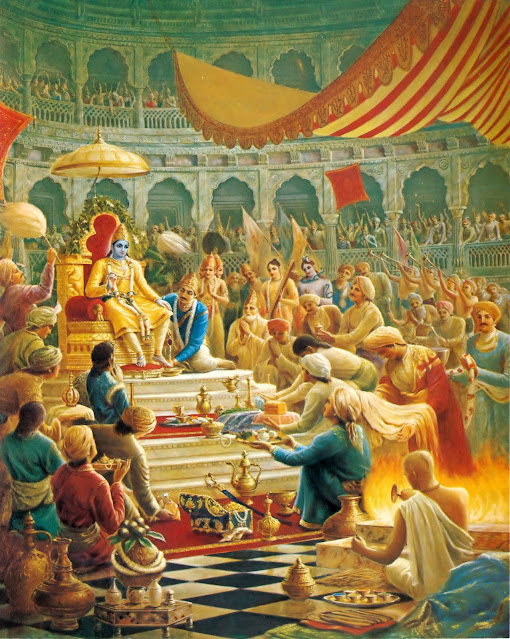 Krishna in throne
