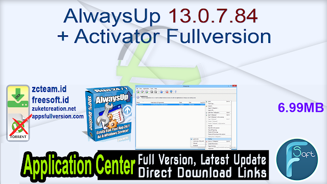 AlwaysUp 13.0.7.84 + Activator Fullversion