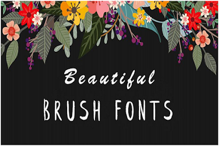 Get To Know About 11 Best Free Brush Fonts