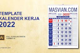 Download Template Kalender Kerja 2022 Full Gratis