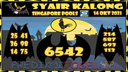 Syair Kalong Togel Singapura Kamis 14-10-2021