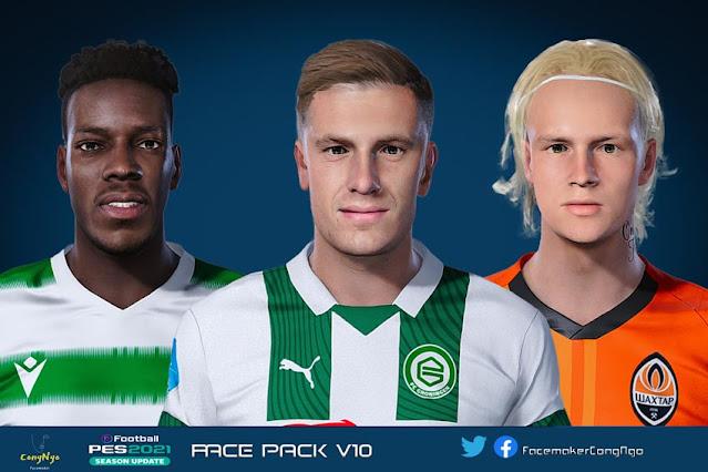 Facepack V10 2021 For eFootball PES 2021