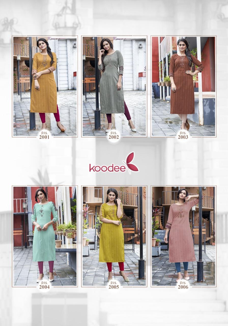 Koodee Fashion Simran Vol 1 Long Straight Kurti Catalog Lowest Price