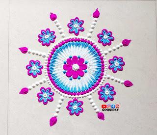 Free Hand Simple Rangoli Designs