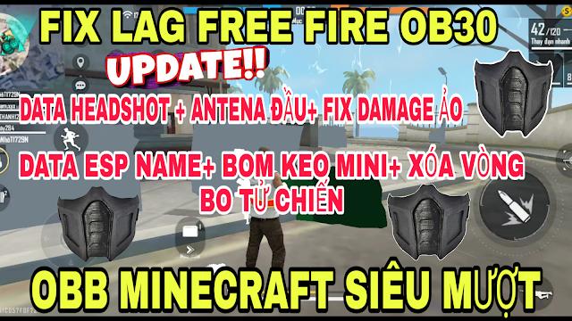 FIX LAG FREE FIRE MAX MỚI NHẤT OB30 CHO MÁY YẾU, SIÊU MƯỢT FULL MINECRAFT V23