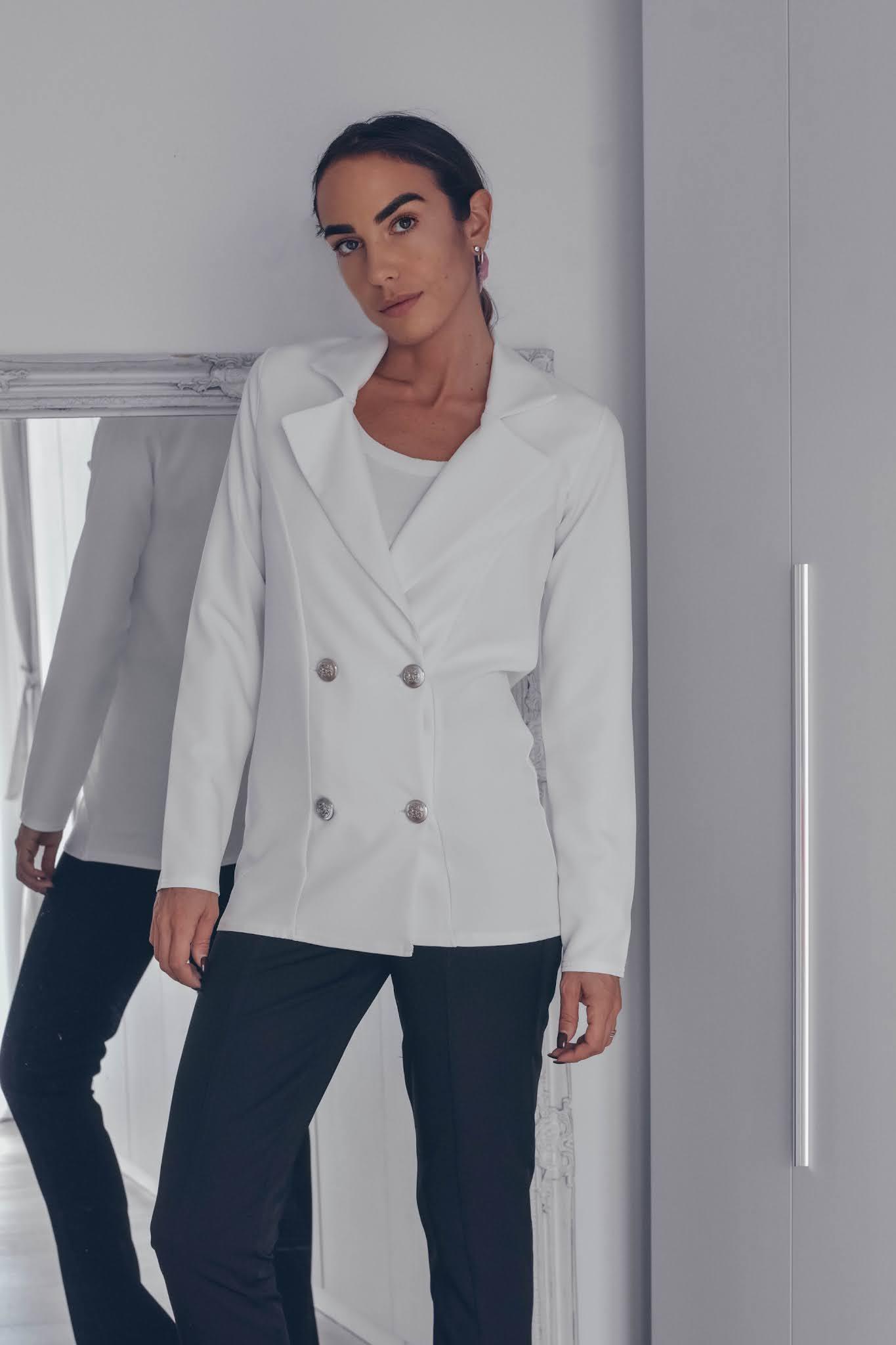 blazer bianco