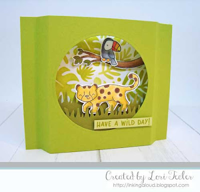 Have a Wild Day card-designed by Lori Tecler/Inking Aloud-stamps and stencils from Lawn Fawn