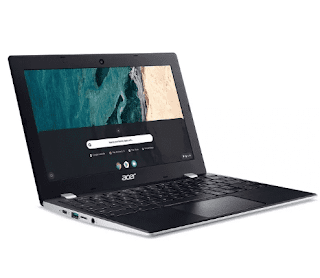 "$130, Acer Chromebook Laptop: Celeron N4000, 11.6"" IPS, 4GB RAM, 32GB eMMC"