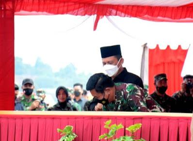 Panglima TNI di Kepri, Resmikan Makogabwilhan dan Monumen Tri Matra