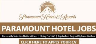 Dubai Hotel Job Vacancy 2021 For Paramount Hotel Dubai (05 Vacancies)
