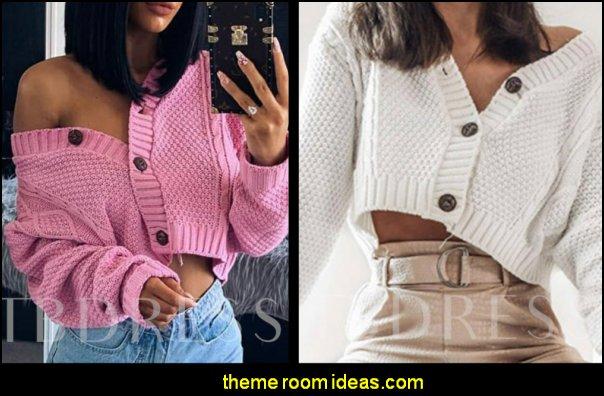 Women's Sweater crop tops crop sweater womens fashion girls fashion