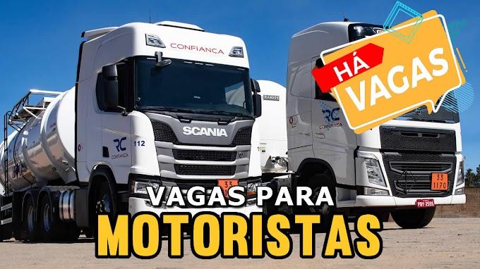 Transportadora Rodoviário Confiança abre vagas para motorista carreteiro