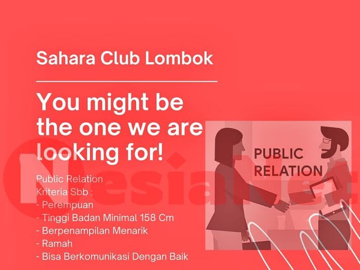 Lowongan Kerja Sahara Club, Karaoke & Pizza House Senggigi Lombok Barat NTB