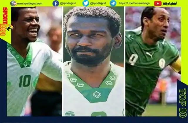 الهداف التاريخي لمنتخب سعودية,ماجد عبد الله,سامي الجابر,ياسر القحصاني
