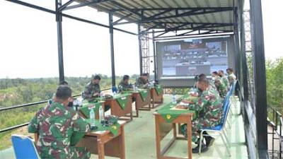 Pangdam I BB Terima Paparan Rencana Garis Besar Latihan Pratugas YTP R-100 PS