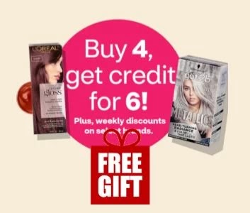 Buy 4 get credit for 6 Hair Color Savings Month Promo