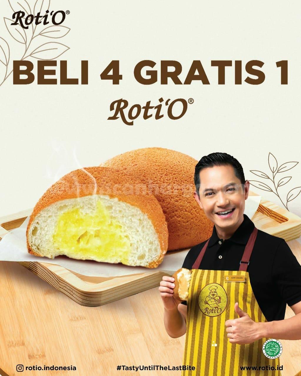 Promo ROTI'O BELI 4 GRATIS 1 ROTI O + Harga Diskon KOPI ROTIO 1