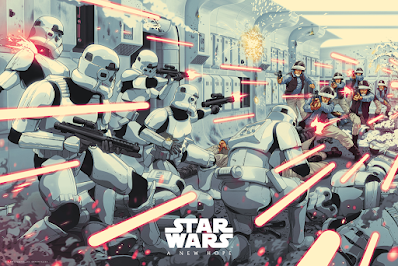 """New York Comic Con 2021 Exclusive Star Wars """"Boarding Party"""" Screen Print by Jack Gregory x Bottleneck Gallery"""