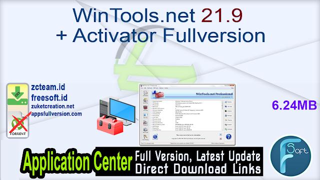 WinTools.net 21.9 + Activator Fullversion