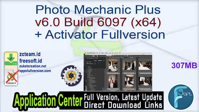 Photo Mechanic Plus v6.0 Build 6097 (x64) + Activator Fullversion