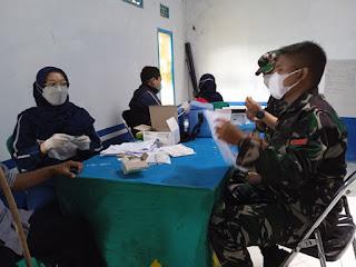 "Kodim 0609 Cimahi Sukses Menggelar Kegiatan Vaksinasi Di Desa Jati Dan Saguling Dengan Tema ""Program Patroli Vaksin."