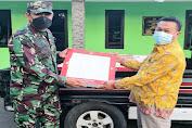Koramil 0602-01/Kota Serang Beri Bantuan Keramik untuk Warga Lontar