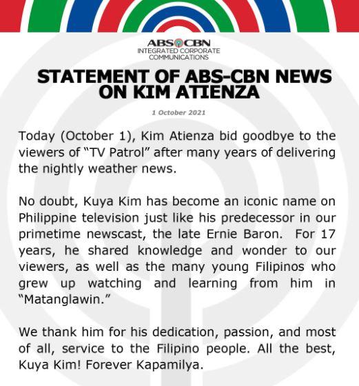 "Kuya Kim bid goodbye to the viewers of ""TV Patrol"""