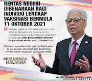 Rentas Negeri Dibenarkan Bermula 11 Oktober 2021