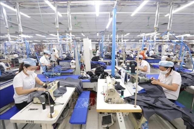 Nhân viên tại công ty may Tiso