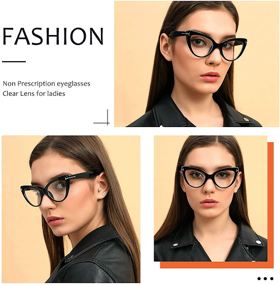 Fashionable Clear Cat Eye Glasses for Women