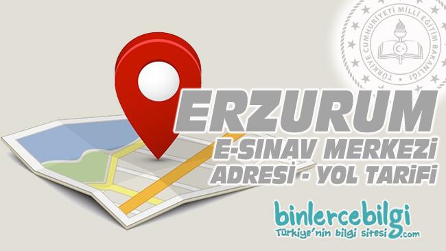 Erzurum e-sınav merkezi adresi, Erzurum ehliyet sınav merkezi nerede? Erzurum e sınav merkezine nasıl gidilir?