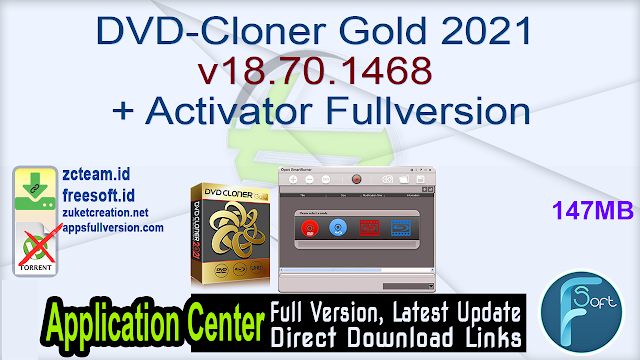 DVD-Cloner Gold 2021 v18.70.1468 + Activator Fullversion