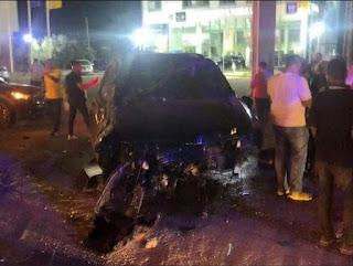 الفنان وائل كفوري يتعرض لحادث سير مروع على طريق جبيل :