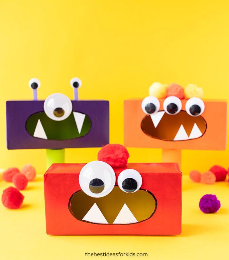 Tissue box monster craft