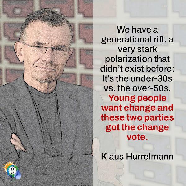 We have a generational rift, a very stark polarization that didn't exist before: It's the under-30s vs. the over-50s. Young people want change and these two parties got the change vote. — Klaus Hurrelmann, a sociologist who studies young people at the Hertie School in Berlin