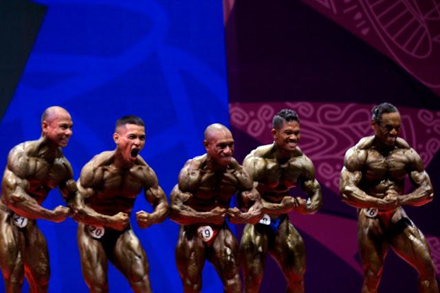 Cornelis Amo, Oto Wantik dan Edoardus Apcowo Bawa Papua Juara Umum Binaraga.lelemuku.com.jpg