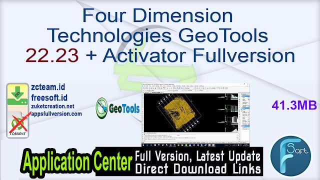 Four Dimension Technologies GeoTools 22.23 + Activator Fullversion