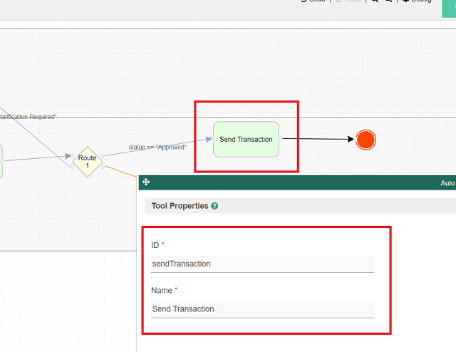 "Rename process tool to ""Send Transaction"""