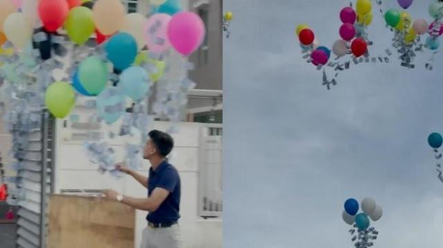 Viral Youtuber Terbangkan Uang Puluhan Juta Pakai Balon, Begini Respon Warganet
