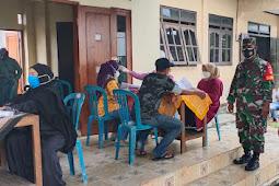 Babinsa Koramil 22 Wonosari Amankan Penyuntikan Vaksin Tahap ll Di Wilayah Binaan