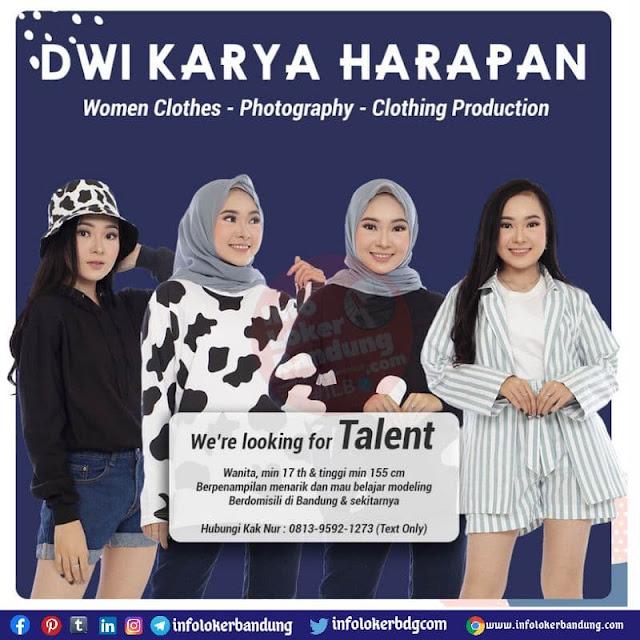 Lowongan Kerja Talent Dwi Karya Harapan Bandung Agustus 2021