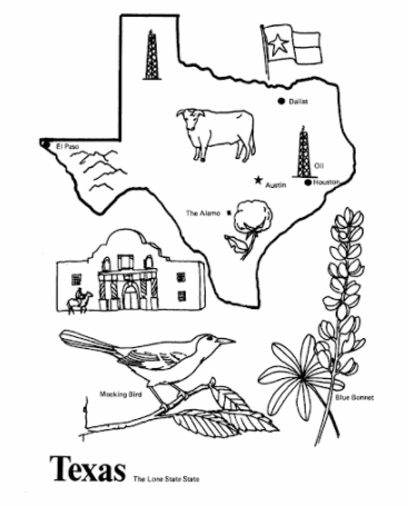 Printable Map Coloring Pages Pdf