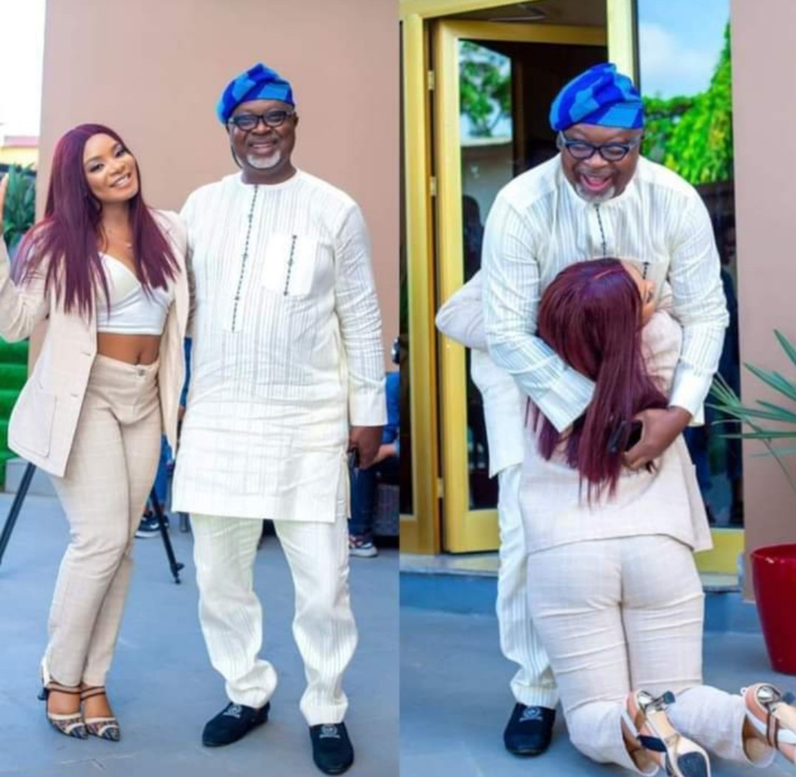 BBNaija: Queen is indeed a wife material, check out how she greeted Saga's dad(Photos)