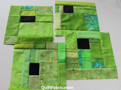 lime green scraps around a black square