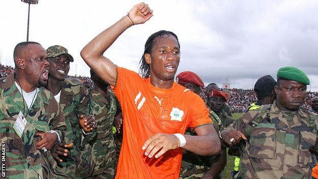 A Country's Messiah: How Didier Drogba Stopped 5 Years Civil War In His Home Country Ivory Coast -With His Sliding Goal